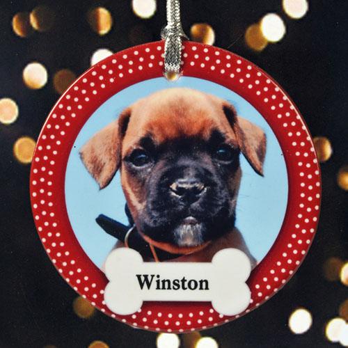 Precious Pet Personalized Photo Porcelain Ornament