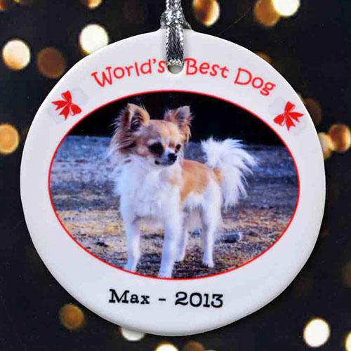 World's Best Dog Personalized Photo Porcelain Ornament