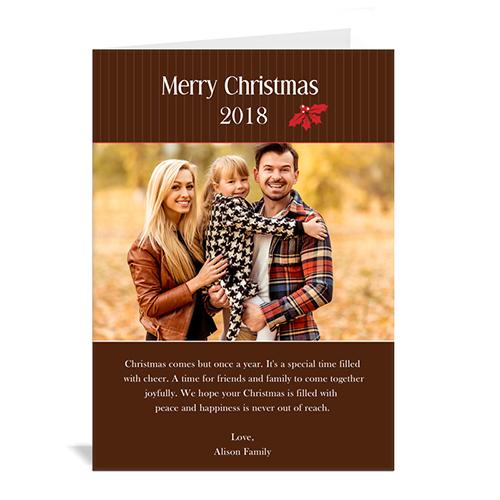 Custom Printed Holly Spring Christmas Greeting Card