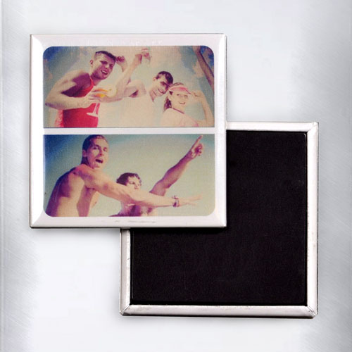 Two Collage Instagram Square Photo Magnet