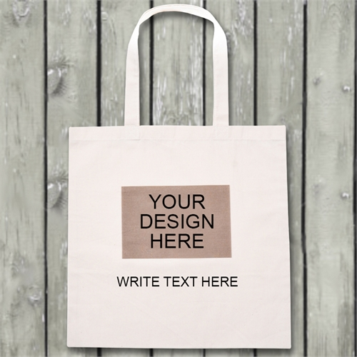 Your Image And Text Budget Tote Canvas Bag