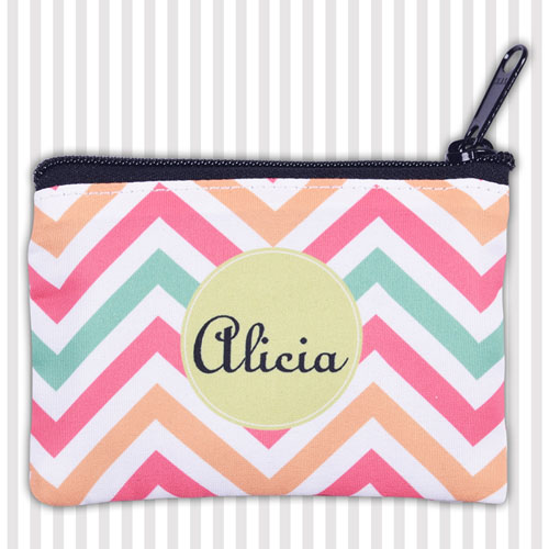 Zigzag Personalized Coin Purse
