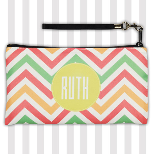 Personalized Chevron Zigzag Stripes 5.5X10 Clutch Bag (5.5X10 Inch)