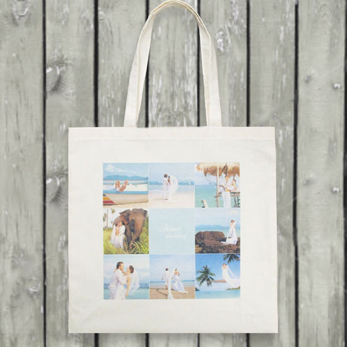 Nine Collage Budget Tote Canvas Bag