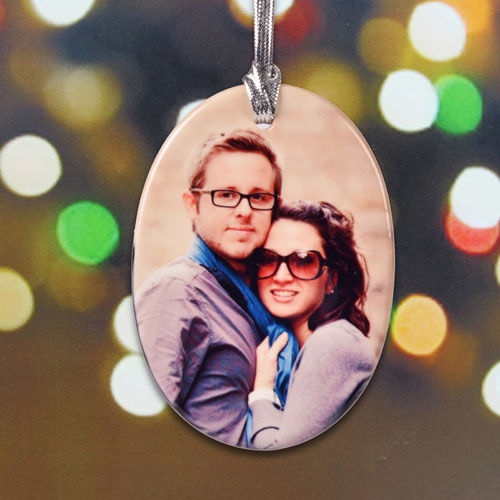 Personalized First Christmas Porcelain Ornaments