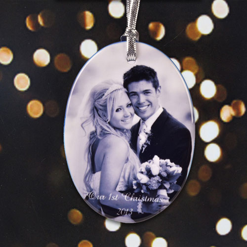 Personalized Newly Wedding Porcelain Ornaments