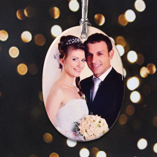 Porcelain Wedding Favors: Personalized Wedding Ornament Favors Porcelain Ornaments