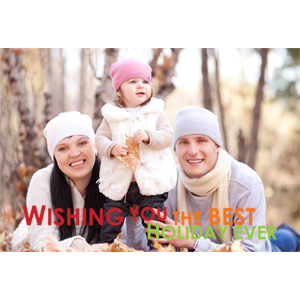 Personalized Happiest Holiday Lenticular Greeting Card