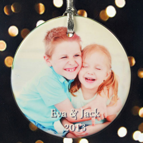 Photo Memories Personalized Photo Poreclain Ornament