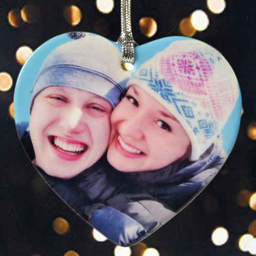 Personalized Our First Christmas Heart Shaped Ornament