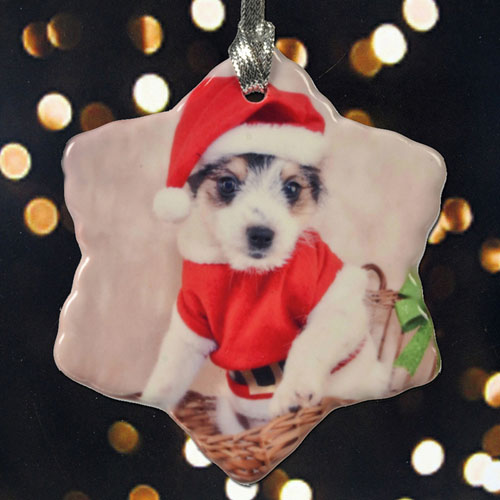 Personalized Pet Photo Memories Snowflake Ornament