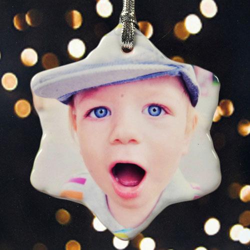 Personalized Precious Photo Snowflake Ornament