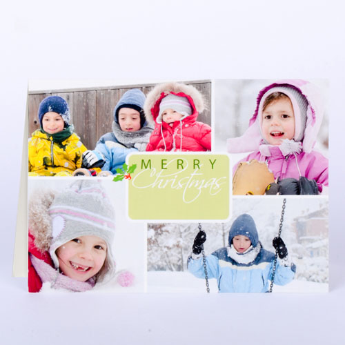 Winter Harmony Personalized Photo Christmas Card