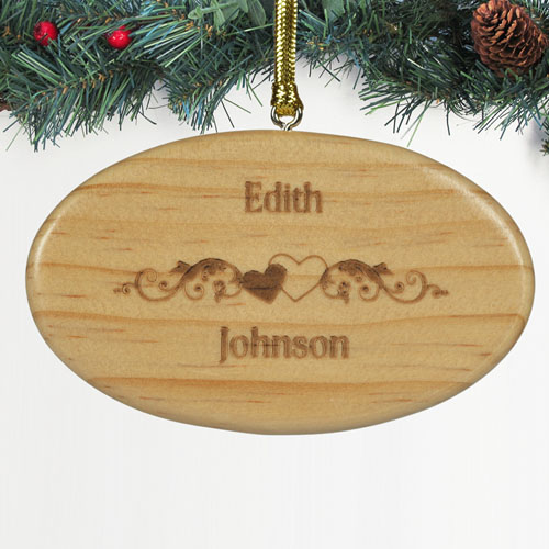Personalized Engraved The Couple Wood Ornament