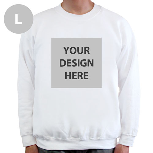 Create Your Own Personalized Photo White L Sweatshirt
