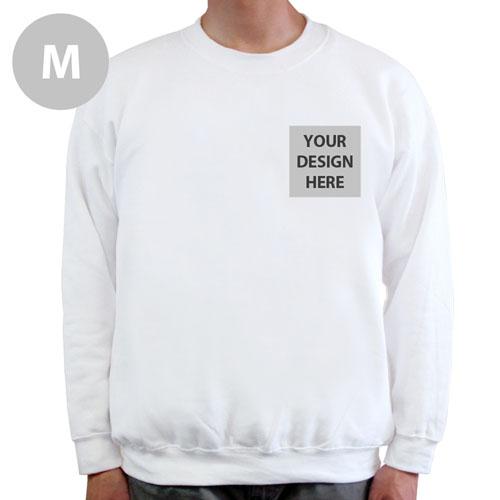 Design Your Own Print Your Logo White Sweatshirt, M