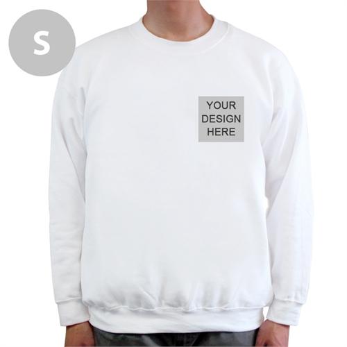 Personalized Print Your Logo White Sweatshirt, S