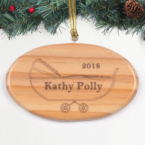Personalized Engraved Little Miracle Wood Ornament
