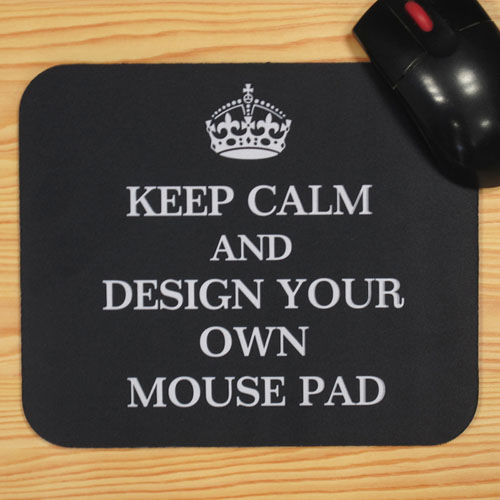 Custom Printed Black Keep Calm Personalized Message Mouse Pad