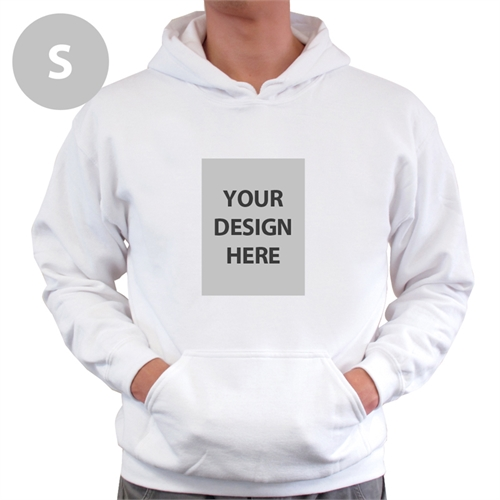 Personalized Custom Portrait White Small Size Hoodie