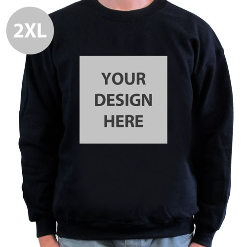 Design Your Gildan Personalized Photo Black Xs Sweatshirt