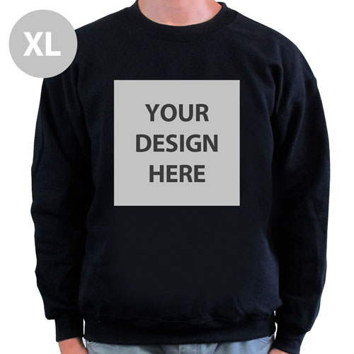 Create Your Own Personalized Photo Black Xl Sweatshirt