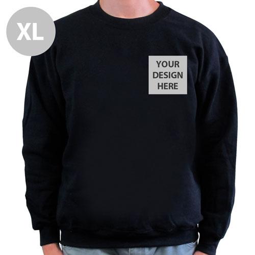 Create Your Own Print Your Logo Black Sweatshirt, XL