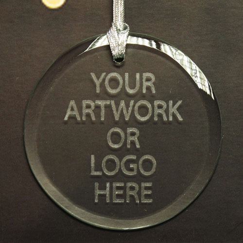 100% Custom Promotional Glass Ornaments With Logo Round
