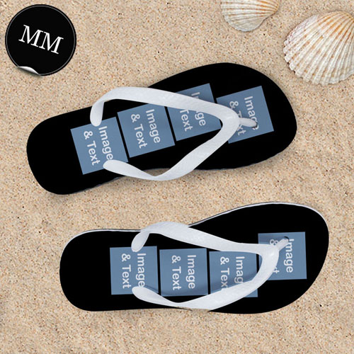 Design My Own Personalized Flip Flops Eight Images, Men Medium