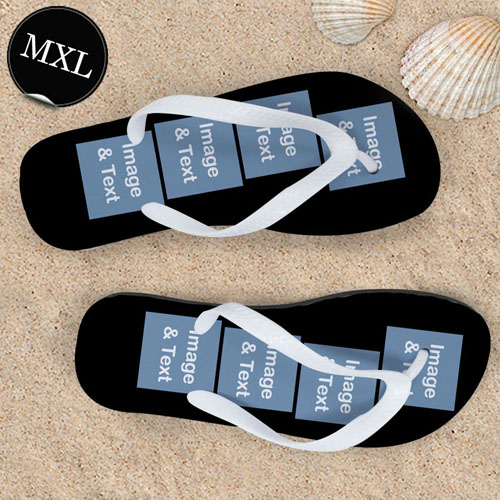 Design Your Own Personalized Flip Flops Eight Images, Men Extra Large Flip Flops