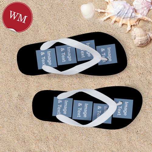 Create My Own Personalized Flip Flops Eight Image, Women's Medium