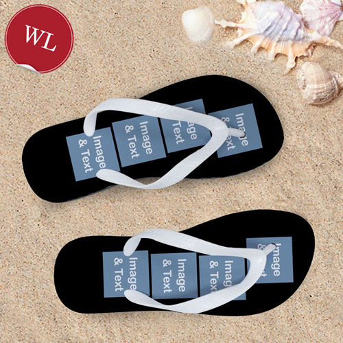 Design My Own Personalized Flip Flops Eight Images, Women's Large