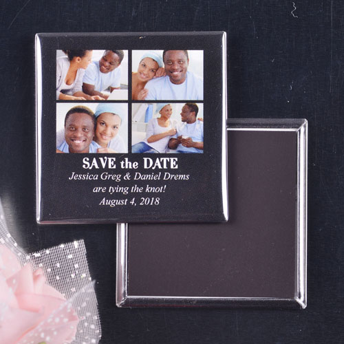 Signature Black 4 Collage Save the Date