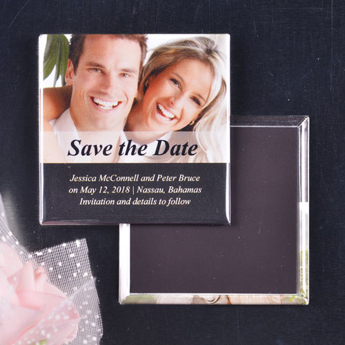 Two Layers Wedding Announcement