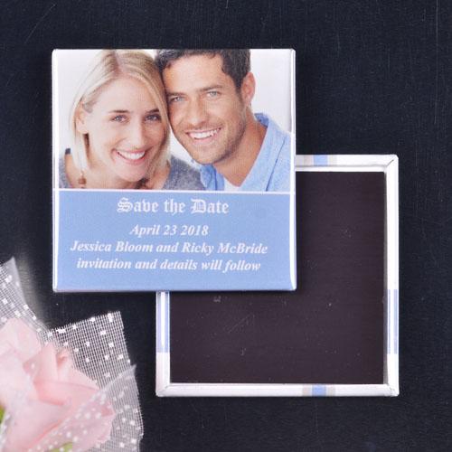 Sky Blue Wedding Portrait Image