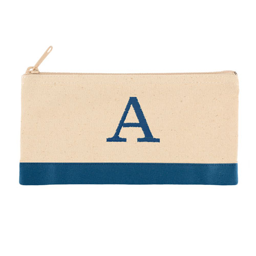 2-Tone Blue Personalized Embroidered One Initial Small (Single Side)