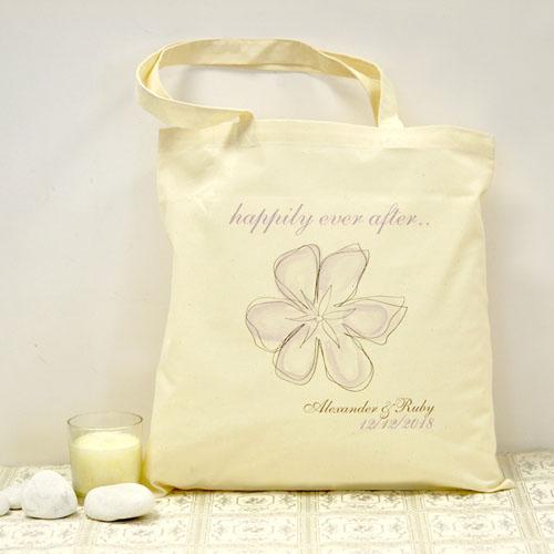Personalized Vintage Garden Cotton Tote Bag
