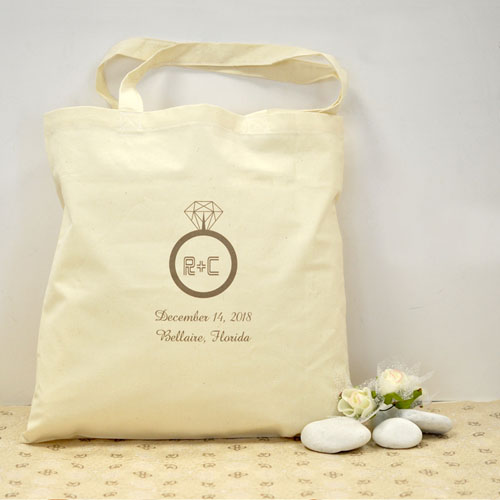 I Say Yes Personalized Engagement Cotton Tote Bag