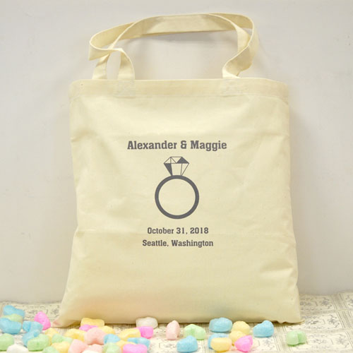 Personalized Wedding Soon To Be Mrs Cotton Tote Bag