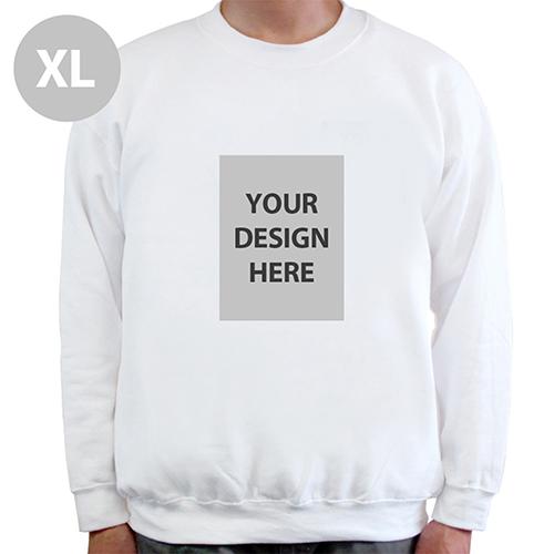 Portrait Image Personalized White Sweatshirt, XL