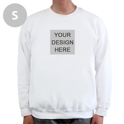 Design Your Own Image & Text Below White S Sweatshirt