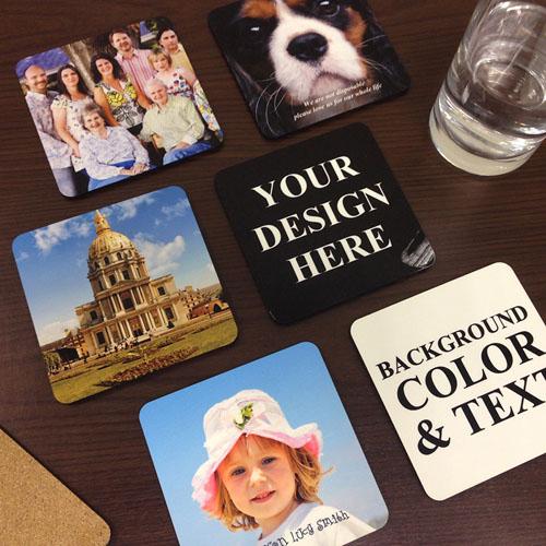 Personalized Photo Cork Coaster (Set Of 6)