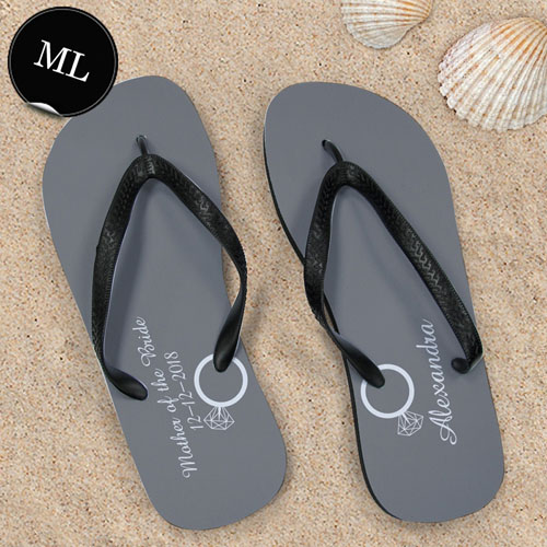 Create Your Own Personalized Wedding Ring Men Large Flip Flops