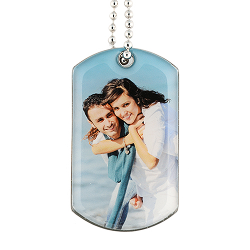 Personalized Single Sided Photo Gallery Dog Tag Pendant
