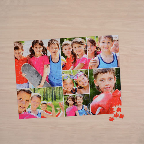 White Seven Collage 18 X 24 Photo Puzzle