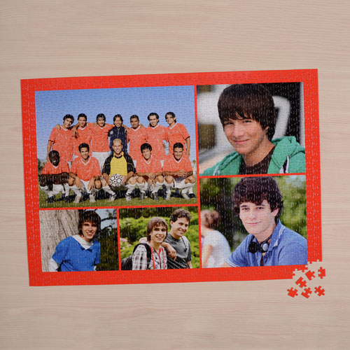 Orange Five Collage 18 X 24 Photo Puzzle