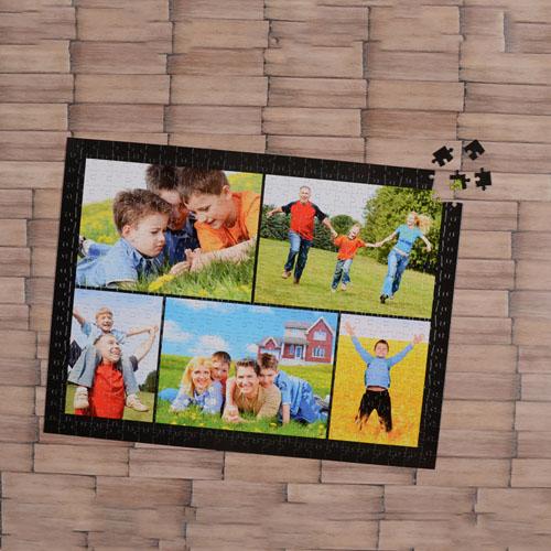 Black Five Collage 18 X 24 Photo Puzzle