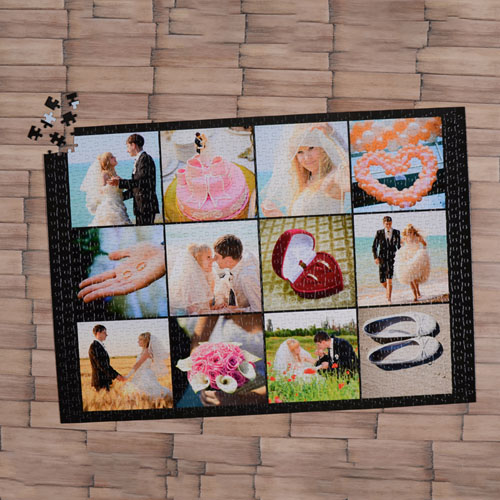 Black Twelve Collage 18 X 24 Photo Puzzle