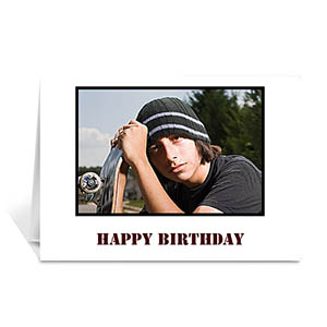 Classic White hoto Birthday Cards, 5x7 Folded