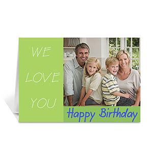 Custom Birthday Lime Photo Cards, 5X7 Folded Modern